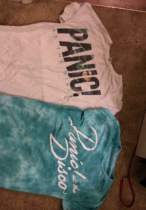 2 Panic! at the Disco shirts for Sale in North Las Vegas, NV