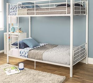 New!! Bed, twin bed, twin bunk bed, twin over twin bunk bed, metal twin bunk bed, bedroom furniture , white for Sale in Phoenix, AZ