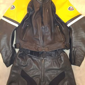 Full Riding Leathers, Removable Knee Pucks, Elbow Pads And Back Plate for Sale in San Francisco, CA