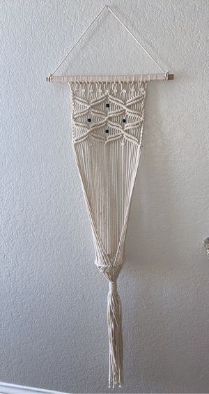 Macrame candle/plant holder for Sale in Las Vegas, NV
