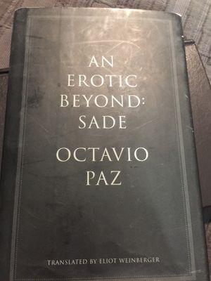 """An Erotic Beyond: Sade"" by Octavio Paz Hardcover Book for Sale in Phoenix, AZ"