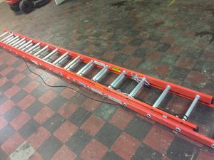 Orange sliver Werner ladder for Sale in Jacksonville, FL