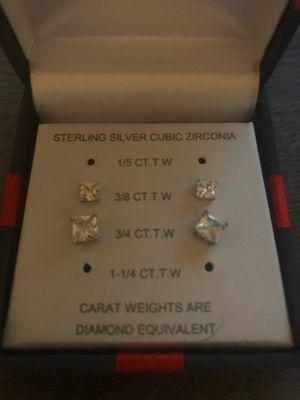 Unisex Diamond Earrings for Sale in Fircrest, WA