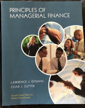 Principles of Managerial Finance PSU Business Textbook for Sale in Portland, OR