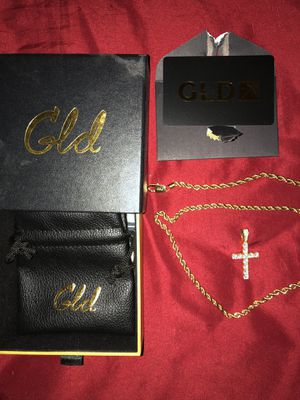 Gold Chain and Diamond Cross for Sale in Norton, OH