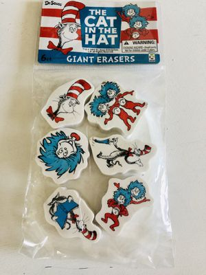 Cat in the hat erasers for Sale in Clovis, CA