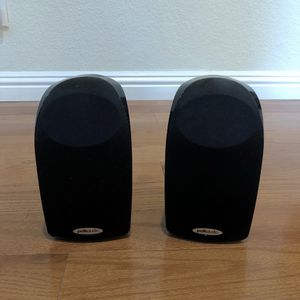 Pair of Polk TL2 Satellite Speaks With Mounting Brackets for Sale in Cupertino, CA