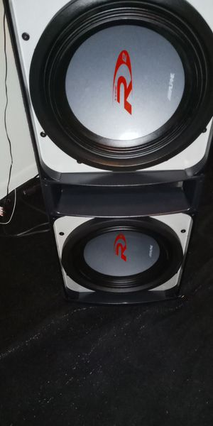 HIGH QUALITY PERFORMANCE ALPINE TYPE R SUBS WITH HIGH QUALITY BOX DUAL COIL D4S 4 OHM for Sale in Phoenix, AZ
