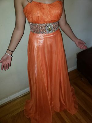 One strap orange prom dress for Sale in Antioch, CA