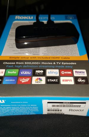 Roku uhd/hdmi player New in original box never used for Sale in Eatonville, WA