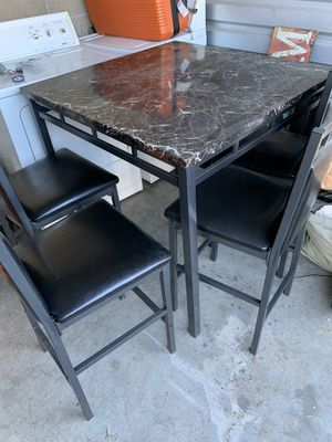 Black Marble Kitchen Table for Sale in Fairfield, CA