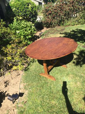 Antique Oak 4' kitchen table for Sale in Los Angeles, CA