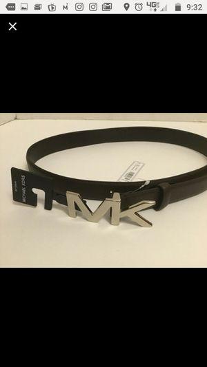 Michael Kors Men's Brown Belt Silver Buckle size 34 for Sale in Hillsborough, NC