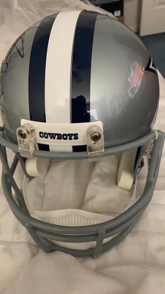 Authenticated Autographed Cowboys Football Helmet