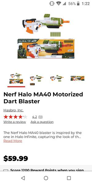 Nerf Halo motorized dart blaster for Sale in Cocoa, FL