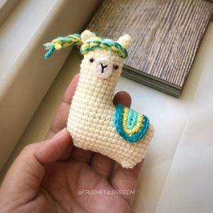 Little Llama - Crochet amigurumi doll toy, key ring, fob bag (including keychain to hang) for Sale in Garden Grove, CA