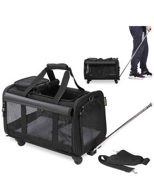 KOPEKS Pet Carrier with Detachable Wheels for Small and Medium Dogs & Cats - Black, Pink. for Sale in SUNNY ISL BCH, FL