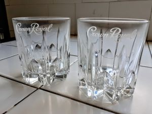 2 Crown Royal Old Fashioned Rocks glasses for Sale in Santa Fe Springs, CA