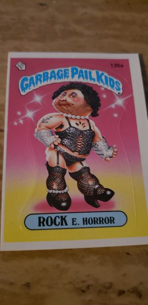 1986 Garbage Pail Kids Rock E Horror Vintage Card for Sale in Elmwood Park, IL