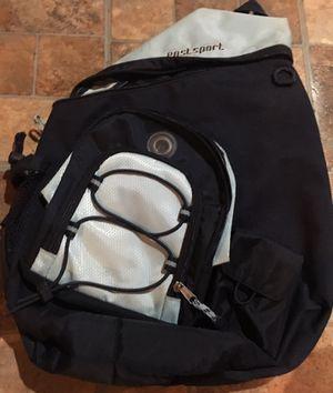 Eastsport Teardrop Shaped Black & Silver Bookbag/Backpack for Sale in Ellenwood, GA