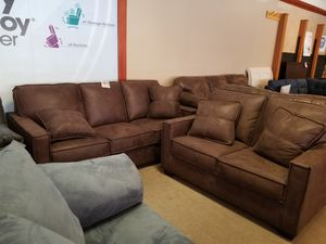 Chocolate Brown Sofa and Loveseat Set for Sale in Phoenix, AZ