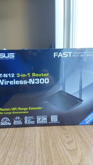 Asus RT-12 3-in-1 Router Wireless-N300 for Sale in Artesia, CA
