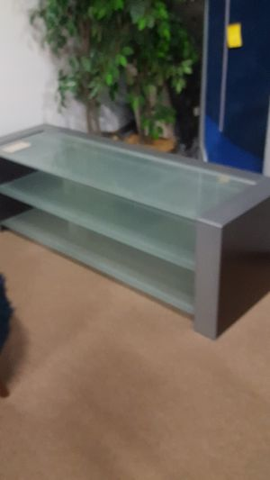 Glass shelf tv stand for Sale in San Francisco, CA