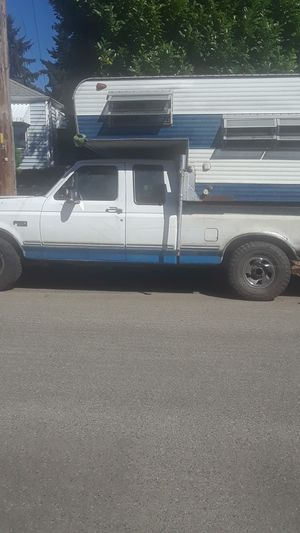 94Ford f150 4x4 with camper trailer or without for Sale in Tacoma, WA