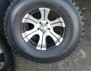 BF GOODRICH 5 TIRES and 5 Rims 35x70x17 for Sale in Alexandria, LA