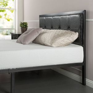 Faux Leather Classic Platform Bed with Support Slats, Queen for Sale in Elk Grove, CA
