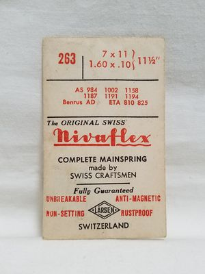Antique Nivaflex Complete Watch Mainspring Switzerland for Sale in Fayetteville, NC