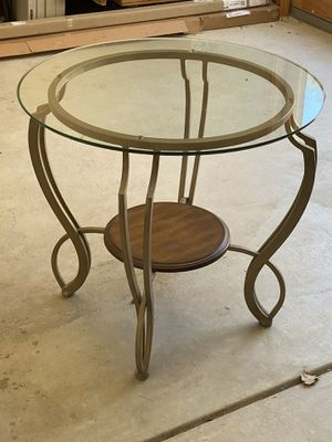 2 matching glass top side tables for Sale in Arroyo Grande, CA
