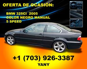 BMW 325ci 2005 color negro manual 5 speed 150000 miles for Sale in Annandale, VA
