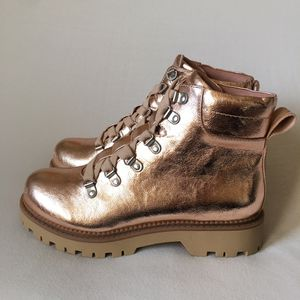 Circus Sam Edelman Kinsley Combat Ankle Work Boots Blush Gold Bronze 6.5 for Sale in Las Vegas, NV