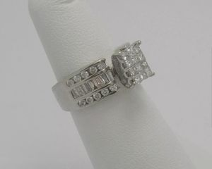1.25 Carat Diamond Engagement Anniversary Wedding Bridal Ring Band 14K White Gold for Sale in West Los Angeles, CA