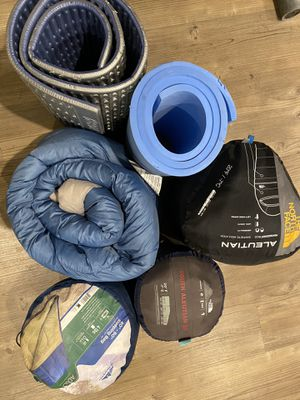 Sleeping bag, camping mattress for Sale in Irvine, CA