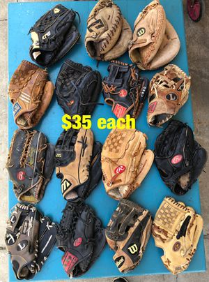 Baseball gloves Wilson easton Rawlings mizuno Nike bats equipment for Sale in Culver City, CA