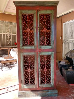 Antique solid wood cabinet for Sale in Houston, TX