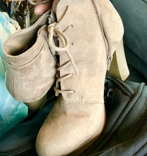 Tan suede boots for Sale in Denver, CO