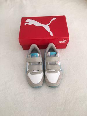 Girl puma sneakers in size 10.5C. New with box for Sale in Oakton, VA