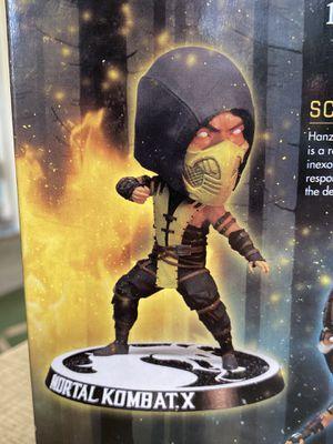 Mezco Toyz Mortal Kombat X Scorpion Bobble Head Figure | Exclusive Arcade Block Collectible Statue, 6 Inches Tall for Sale in Bradenton, FL