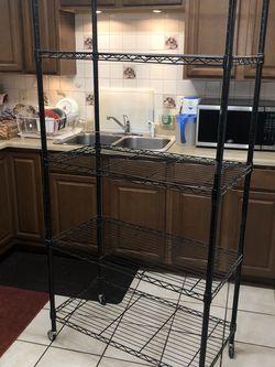 Large metal shelf on wheels for Sale in Scottsdale,  AZ