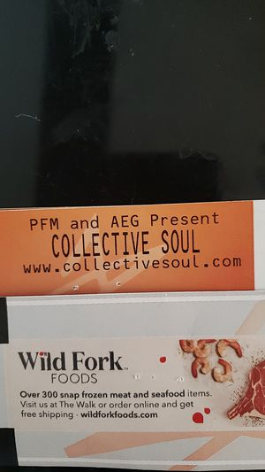 COLLECTIVE SOUL THIS SAT. NIGHT 40 EACH! for Sale in Fort Lauderdale, FL