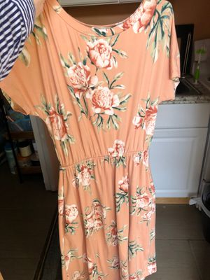 Peach/Pink Floral Maxi Dress for Sale in San Jose, CA
