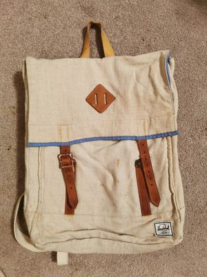 Herschel's Survey Backpack unisex w/ genuine leather & linen for Sale in Chicago, IL
