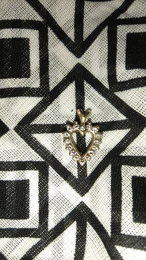 14k & diamond pendant for Sale in Broken Arrow, OK