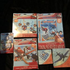 Disney planes birthday decorations supplies for Sale in Ontario, CA