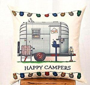 Accent pillow cover, campers edition for Sale in Murrieta, CA