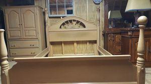 Solid Wood Queen Bedroom Set for Sale in Crowley, TX