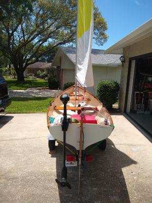 12' Row/Sail Boat - Minn Kota Motor - Trailex Trailer for Sale in Palm Harbor, FL